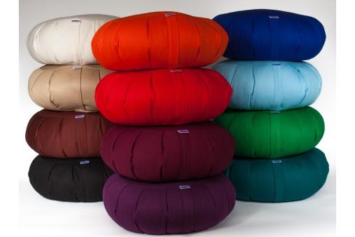 Zafu - poduszka do medytacji z bawełny  i łuski gryki - różne kolory