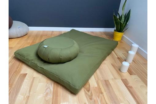 Zestaw do medytacji zafu gryczane + bawełniana mata zabuton