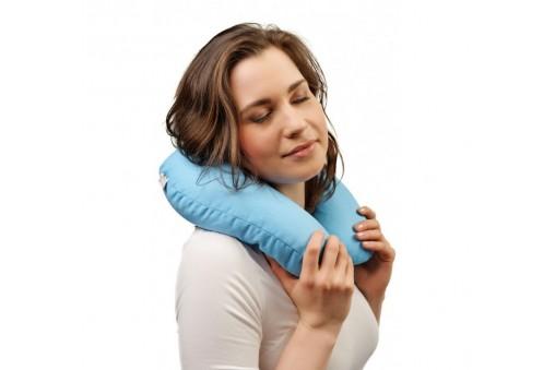 Poduszka podróżna (rogal) na szyję - z łuską gryki