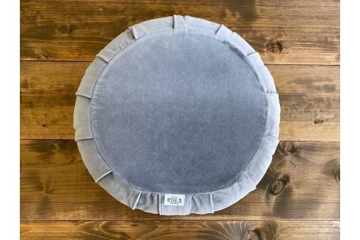 Luksusowa Poduszka ZAFU do medytacji z aksamitnym pokrowcem