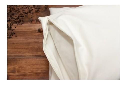 Kremowa bawełniana poszewka na poduszkę