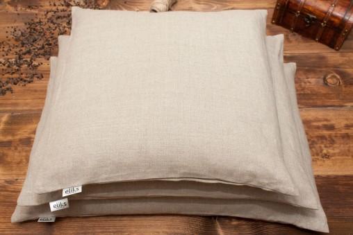Poduszka gryczano-gorczycowa + poszewka z naturalnego LNU