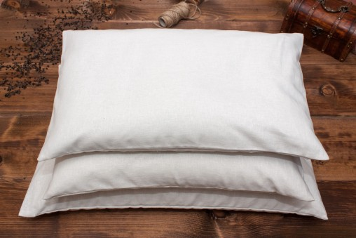 Poduszka z łuską gryki + biała lniana poszewka