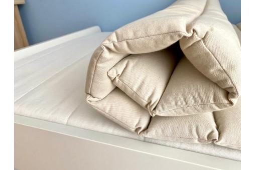 Materac gryczany można ułożyć na materacu łóżka